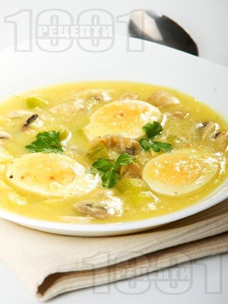 Яйчено рагу с гъби - снимка на рецептата